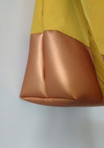 Makerist - Yello Bag aus Dry Oilskin und Kunstleder - Nähprojekte - 3