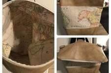 Makerist - Foldover für mich aus Weltkarten Stoff  - 1