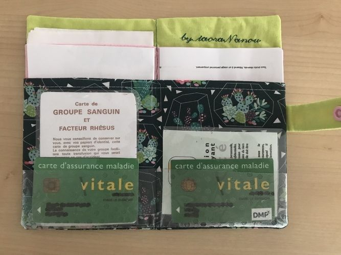 Makerist - Pochette papiers de santé TAOTE - Créations de couture - 2