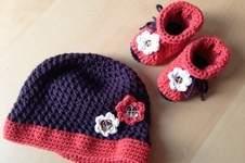 Makerist - Babymütze und -schuhe aus Wolle - 1