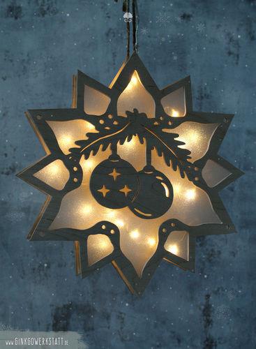 """Makerist - Leuchtstern """"Weihnachtskugel"""" - DIY-Projekte - 1"""