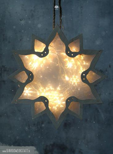 """Makerist - Leuchtstern """"Weihnachtskugel"""" - DIY-Projekte - 2"""
