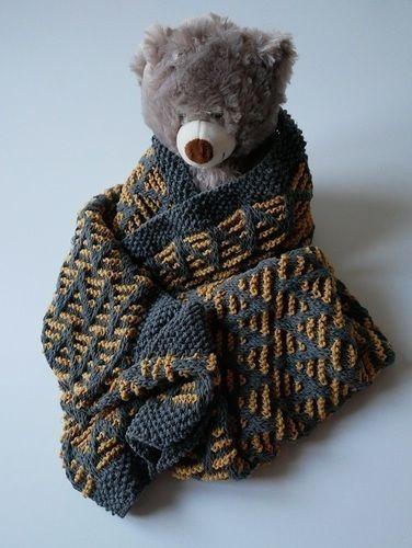 Makerist - Striped chevron blanket - Créations de tricot - 1