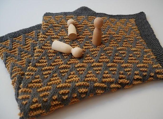 Makerist - Striped chevron blanket - Créations de tricot - 2