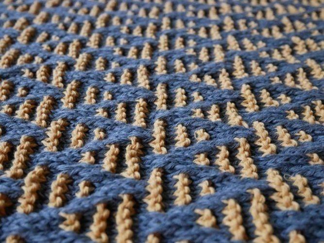 Makerist - Striped chevron blanket - Créations de tricot - 3