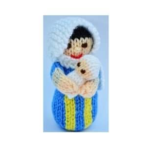 Makerist - Mary & Baby Jesus Dolls - DK Wool - 1