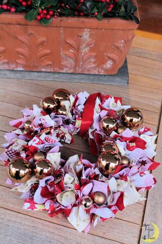 Makerist - Weihnachtlicher Kranz aus Stoff - DIY-Projekte - 1