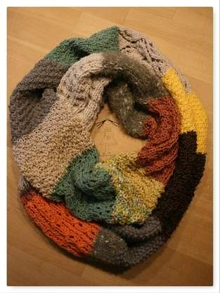 Makerist - Loopschal aus Restwolle - 1
