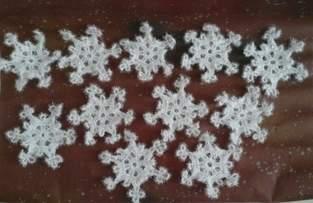 Makerist - Flocons de neige au crochet en laine spectacle éponge  - 1