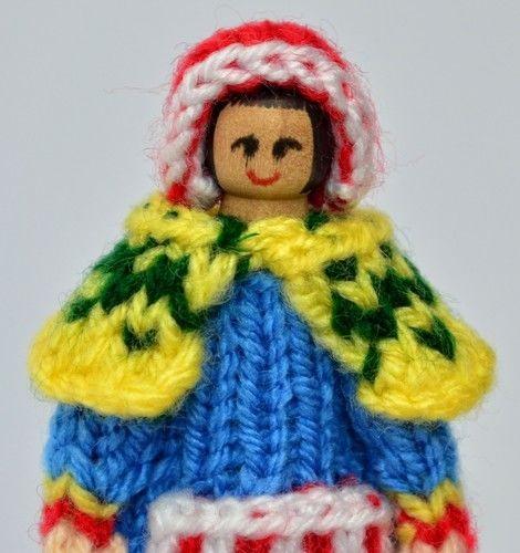 Makerist - Lapland Costume Peg Doll - DK Wool - Knitting Showcase - 2