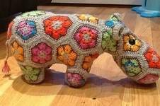 Makerist - Nilpferd aus afrikanische Blumen  - 1