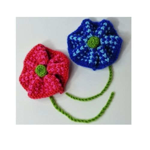 Makerist - Twisted Tweed Knit Flower Brooch - DK Wool - Knitting Showcase - 1