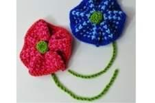 Makerist - Twisted Tweed Knit Flower Brooch - DK Wool - 1