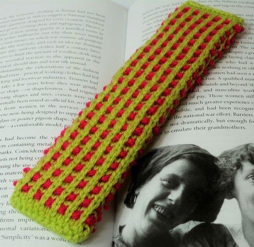 Makerist - Basket Rib Bookmark - DK Wool - Knitting Showcase - 1