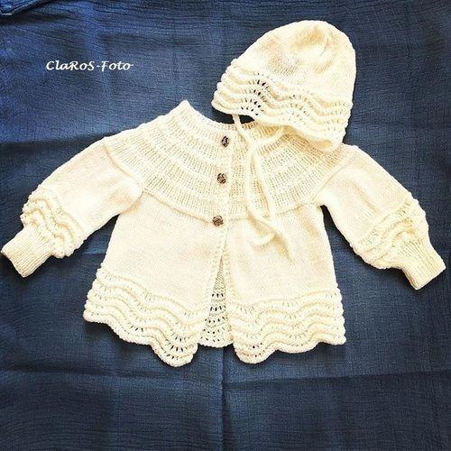 Makerist - Jacke und Mütze zur Taufe meiner Enkelin. - Strickprojekte - 1