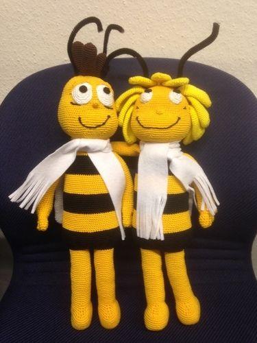 Makerist - Biene Maya und Willi für eine liebe Kollegin zum Geburtstag - Häkelprojekte - 1