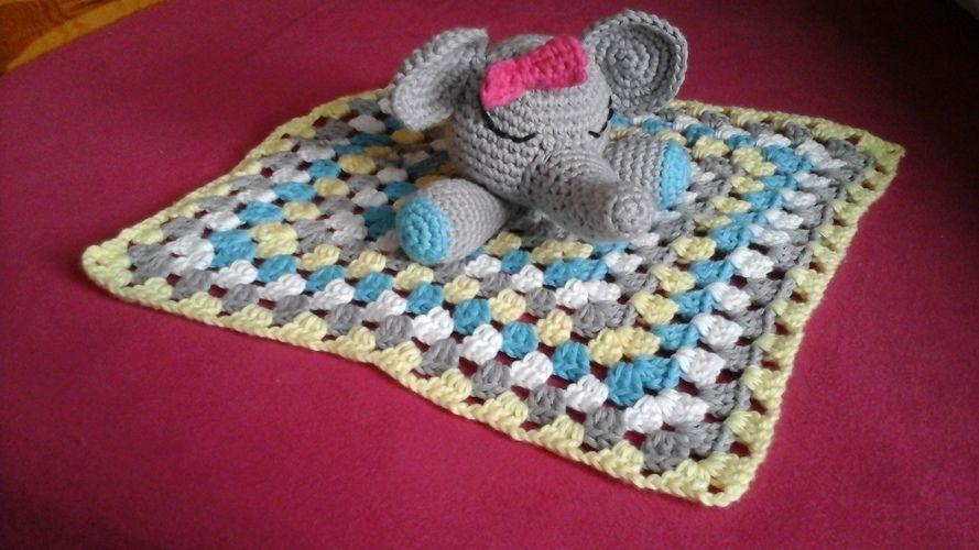 Makerist - Doudou tite fille éléphant  pour ma tite nièce 21 mois,l - Créations de crochet - 1