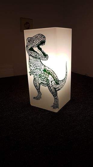 Makerist - Trex aus Vinyl folie auf eine Lampe - 1