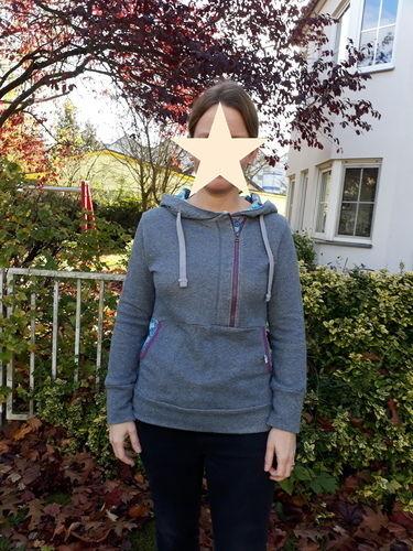 Makerist - Crash for Ladys aus rauchblauem Glitzersweat - Nähprojekte - 2