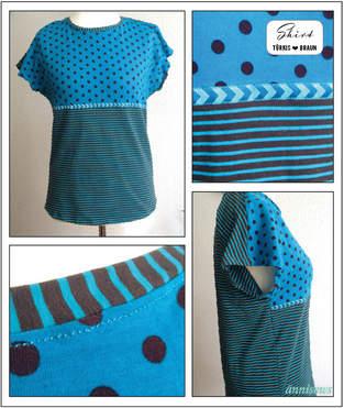 Makerist - Jersey-Shirt mit überschnittenen Ärmeln - 1
