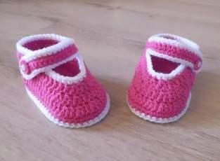 Makerist - PDF CROCHET - Chaussons pour bébé de 3 à 12 mois !  - 1