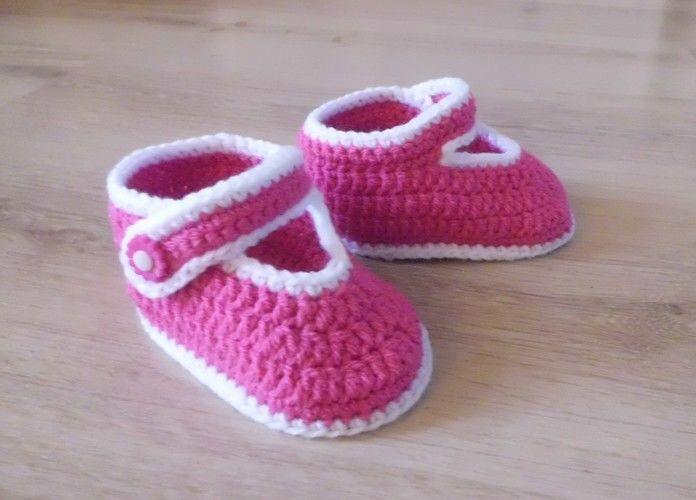 Makerist - PDF CROCHET - Chaussons pour bébé de 3 à 12 mois !  - Créations de crochet - 2