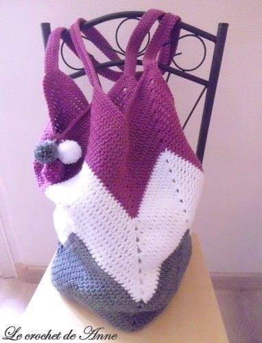 Makerist - SAC fourre-tout , Sac de plage , Sac boho , aux jolis motifs zig zag !  - Créations de crochet - 1