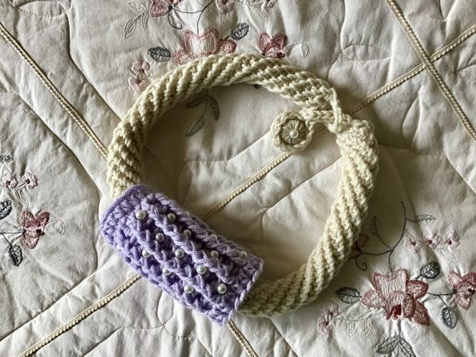 Makerist - Gemini fiber art necklace - Crochet Showcase - 2