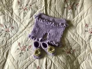 Makerist - Lavender Lamb ruffled baby bloomers - 1