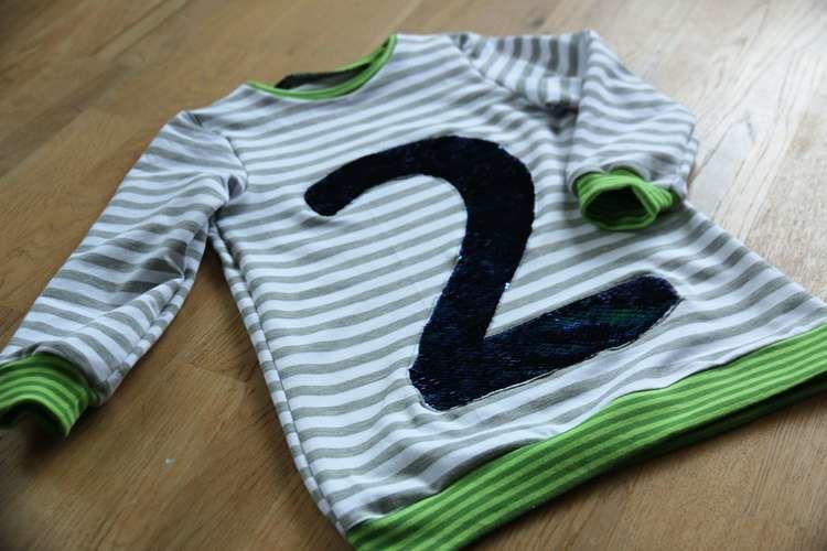 Makerist - Kindershirt LUV mit Appli aus Wendepailletten - Nähprojekte - 1