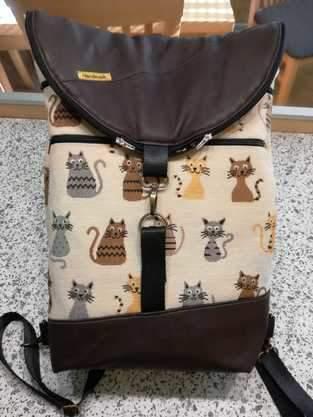 """Makerist -  Hikebag  von Unikati """"Katzen"""" - 1"""
