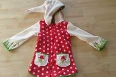 Makerist - Wunderschöne Fliegenpilz Jacke aus Fleece für mein Töchterchen - 1