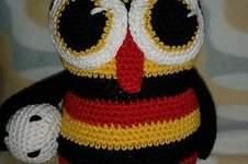 Makerist - meine D-Eule für die WM, reine Baumwolle, Füllwatte - 1