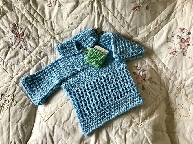 Makerist - Little Boy Girl Blue Sweater - Crochet Showcase - 3