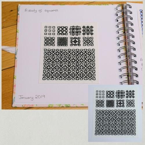 Makerist - Stitching Projects - Blackwork Journal - January 2019 - Sewing Showcase - 1