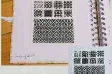 Makerist - Stitching Projects - Blackwork Journal - January 2019 - 1