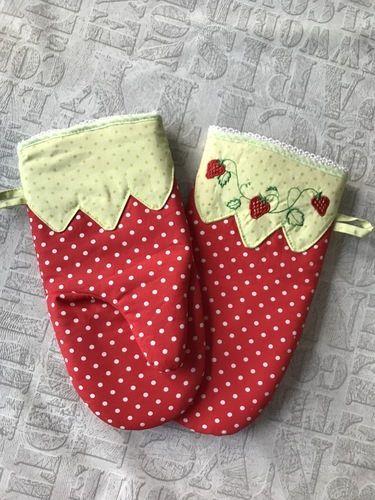 Makerist - Ofenhandschuhe - Geburtstagsgeschenk für eine liebe Freundin mit Küchenfimmel - Nähprojekte - 2