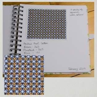 Makerist - Stitching Projects - Blackwork Journal - February 2019 - 1