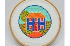 Makerist - Folk Art Cottage Counted Cross Stitch Pattern - 1