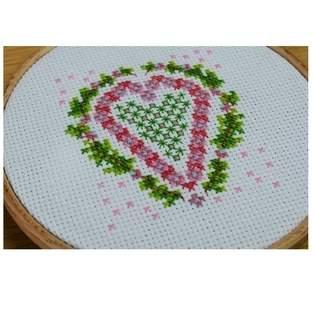 Makerist - Heart Counted Cross Stitch - 1
