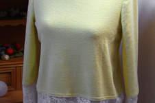 Makerist - Pullover aus Forttee und Spitze - 1
