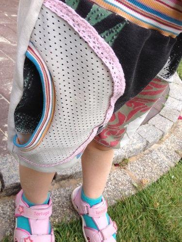 Makerist - Das war mal ein knielanger rock von mir. Jetzt ist es eine Shorts für meine kleine - Nähprojekte - 2