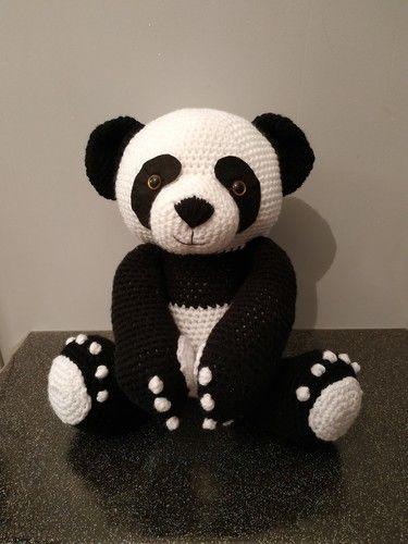 Makerist - Panda amigurumis 38cm debout - Créations de crochet - 1