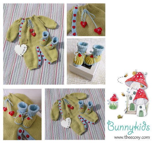 Makerist - Hearts and Kisses Onesie and Bootie set - Knitting Showcase - 1