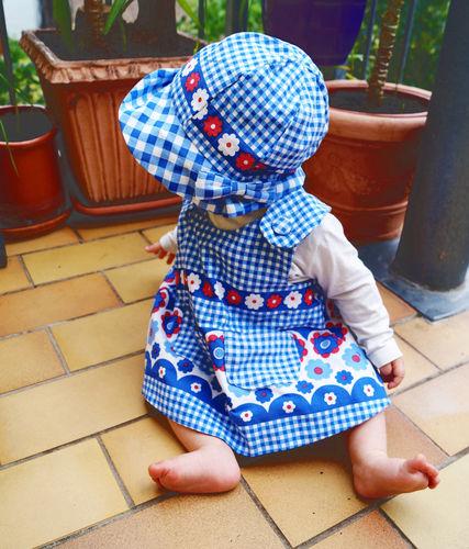 Makerist - Upcycling: Schürzenkleid mit Mütze und Höschen aus alter, kaputter Bettwäsche für Kinder - Nähprojekte - 1