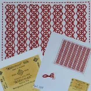 Makerist - Stitching Projects - Blackwork Journal - April 2019 - 1