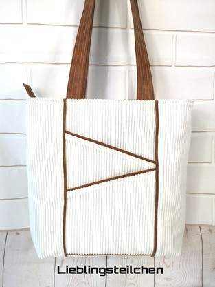 Makerist - Taniia Bag von Unikati.Jede.Naht.ein.Unikat. Genäht ist sie aus Breitcord 😊 - 1