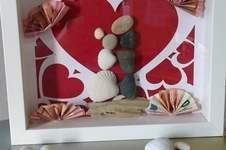 Makerist - Herzchen zur Hochzeit - Geschenk im Rahmen - 1