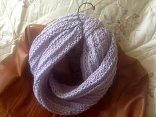Makerist - Lavender Bouquet Infinity Scarf - 1