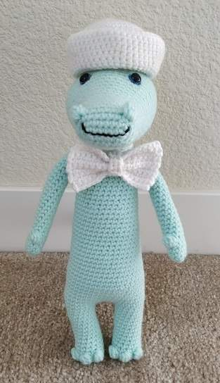 Makerist - Amigurumi – Nile the sailor crocodile - crochet – tutorial - 1